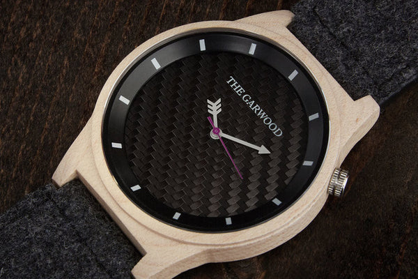 360 - 100% NATURAL AMERICAN MAPLE WOOD WITH FELT & LEATHER BAND