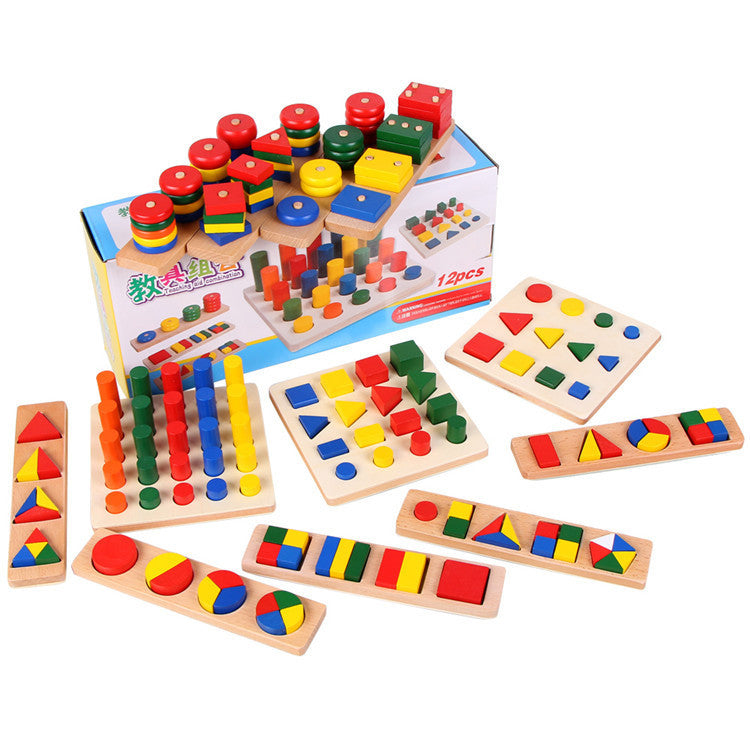 Early Development montessori materials set Geometry Shape Learning educational children toys gift juguetes montessori