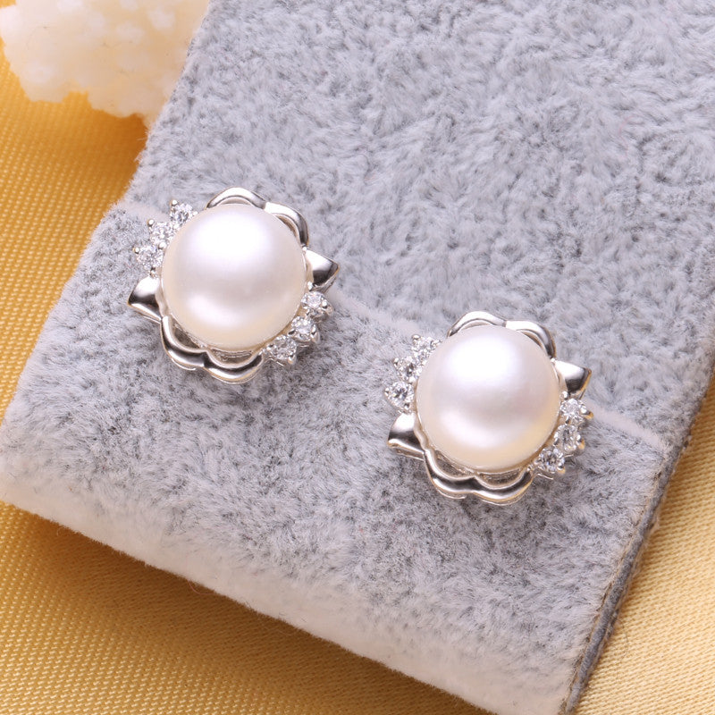 FENASY pearl earrings,2016 new natural Pearl earring,  earrings for women,vintage fashion pearl Jewelry earrings,gift box
