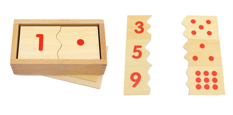 Montessori Digital Puzzle Wooden Toys Education Math Toy High Quality