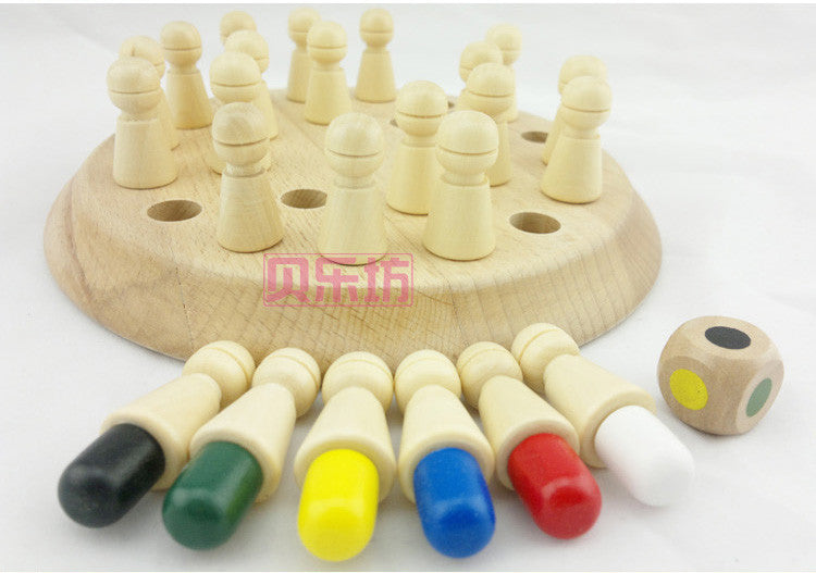 Candice guo! educational wooden toy Montessori colorful colour memory game birthday gift 1pc