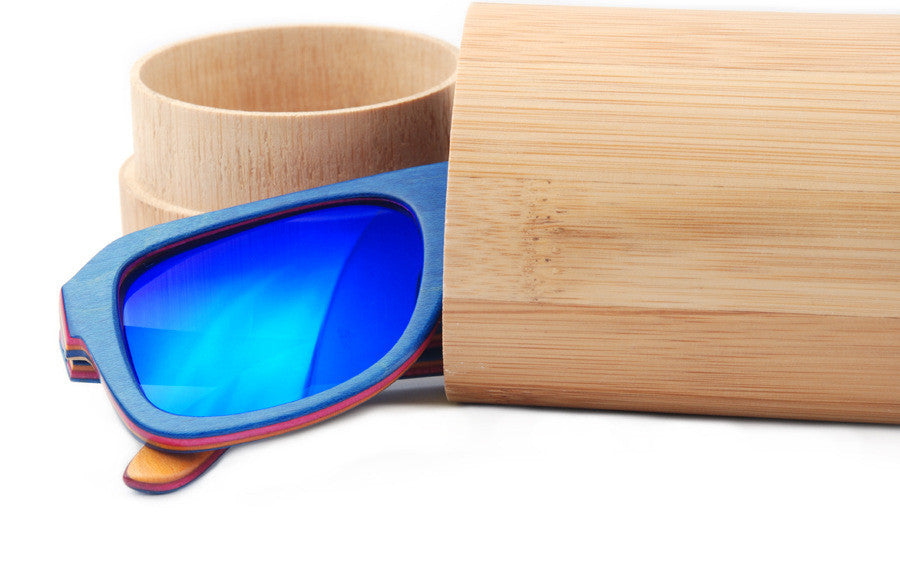 2016 Bamboo Sunglasses  Fashion Polarized Sunglasses Popular New Design Wooden Sunglasses Oculos De Sol KC-W3009