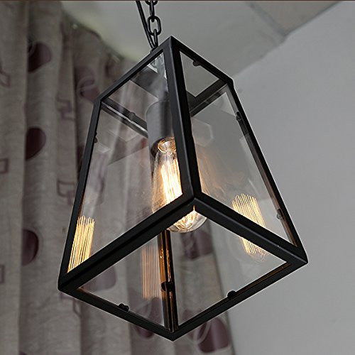 American Village Industrial retro Pendant Lights Edison LED bulb Cafe Restaurant droplight Black wrought iron lamp E27 Lighting