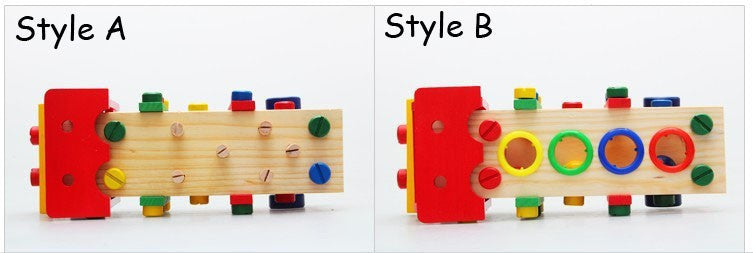 Baby toys Multi-function Knock ball tool car Wood montessori Wooden toy Good gift for children kids