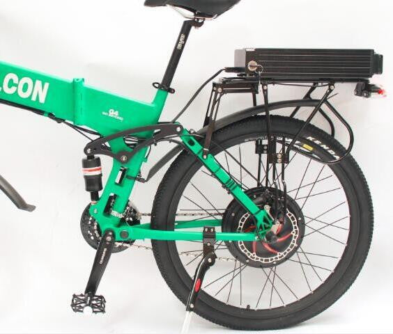 48V 750W Electric Bike Foldable Bicycle Foldable Frame Ebike + 48V 13.2Ah Li-ion Battery Full Suspension With 2A Charger