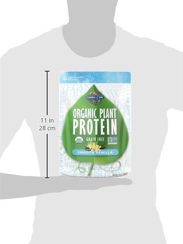 Garden of Life Organic Plant Protein Vanilla 258g Powder - Vegan certified, kosher - SustainTheFuture.us - The Natural and Organic Way of Life