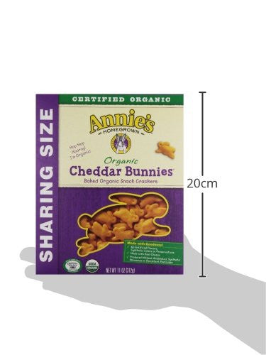 Annie's Organic Cheddar Bunnies Baked Snack Crackers - No Artificial - SustainTheFuture.us - The Natural and Organic Way of Life