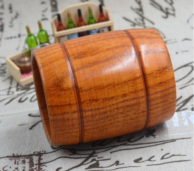 1pc Classic Style Natural Wood Cup Wooden Beer Mugs Drinking For Party Novelty Gifts Eco-friendly 350ml