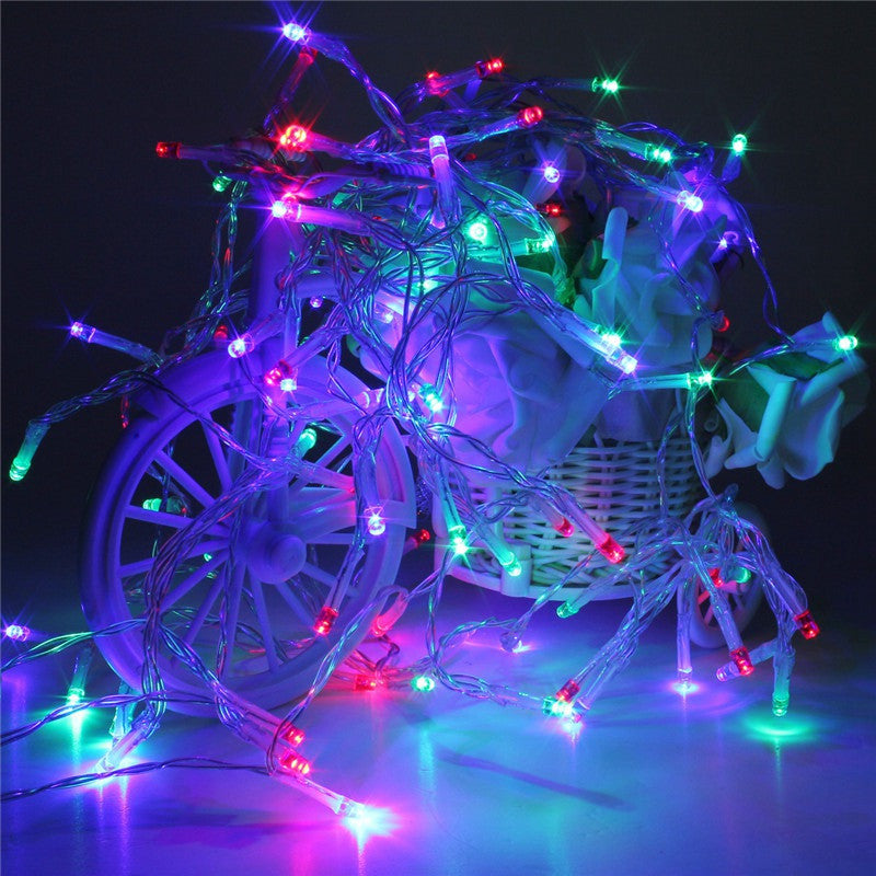 Multicolor 10M Battery Powered 100 LED Starry Fairy String Lights Christmas Xmas  Wedding Party Decoration Lamp  Lights 4.5V