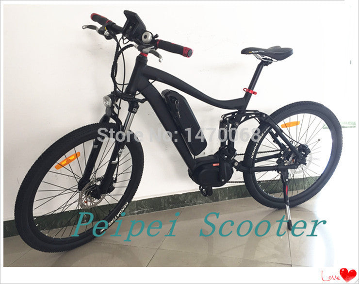 26inch high configuration mid motor electric bicycle with SAMSUNG li-battery(pseb-41)