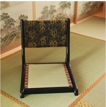 (2pcs/lot)Japanese Tatami Chair Removable Cushion Seat Natural Finish Folding Leg Living Room Furniture Floor Legles Zaisu Chair
