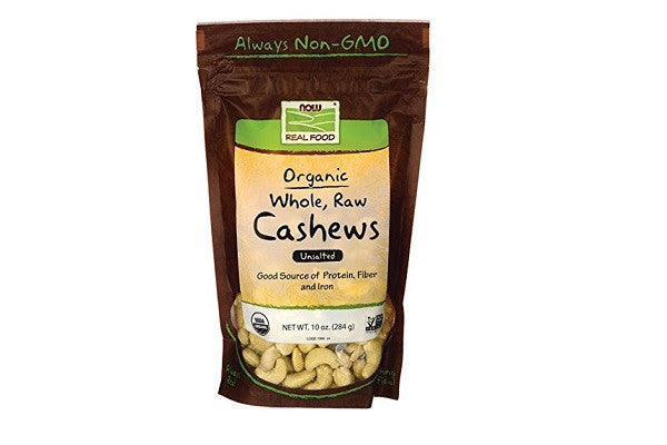 NOW Foods Raw Organic Cashews - Good source of protein, Certified Organic