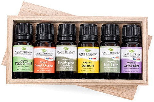 Top 6 USDA Certified Organic Essential Oils Set. Includes 100% Pure, Undiluted, Therapeutic