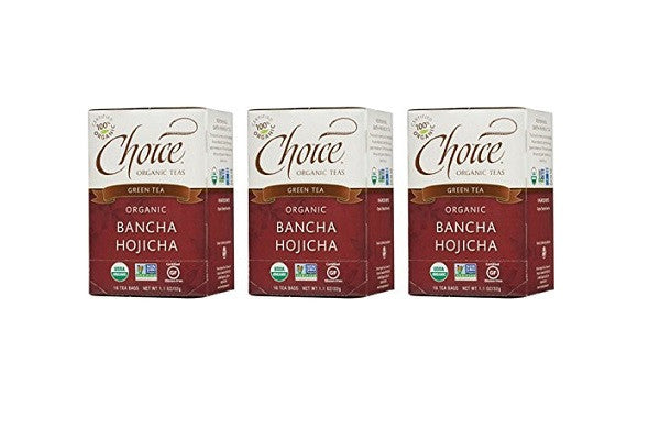 Choice Organic Bancha Hojicha Roasted Japanese Green Tea, 3 Count - USDA - SustainTheFuture.us - The Natural and Organic Way of Life