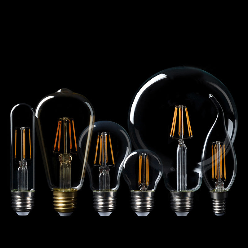 2016 NEW LED Edison Bulb E27 E14 Real watt 2W 4W 6W 8W LED Filament lamp Vintage LED Edison Lamp 220V Retro Candle Light