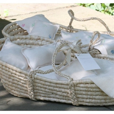 Organic Doll Bed - Moses Basket - Great for Big Sister Brother