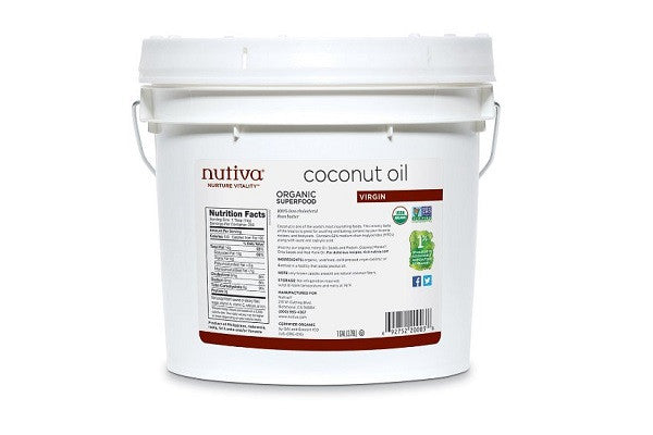 Nutiva Organic Virgin Coconut Oil 1-Gallon Tub - No refrigeration required