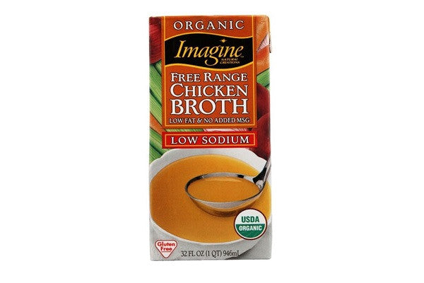 Imagine Organic Free Range Chicken Broth, Low Sodium - Low fat and no added MSG - SustainTheFuture.us - The Natural and Organic Way of Life