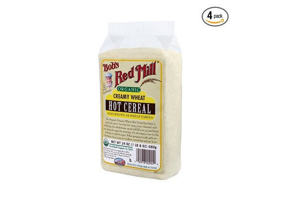 Bob's Red Mill Organic White Wheat Farina, 24-Ounce (Pack of 4) - Cholesterol free - SustainTheFuture.us - The Natural and Organic Way of Life