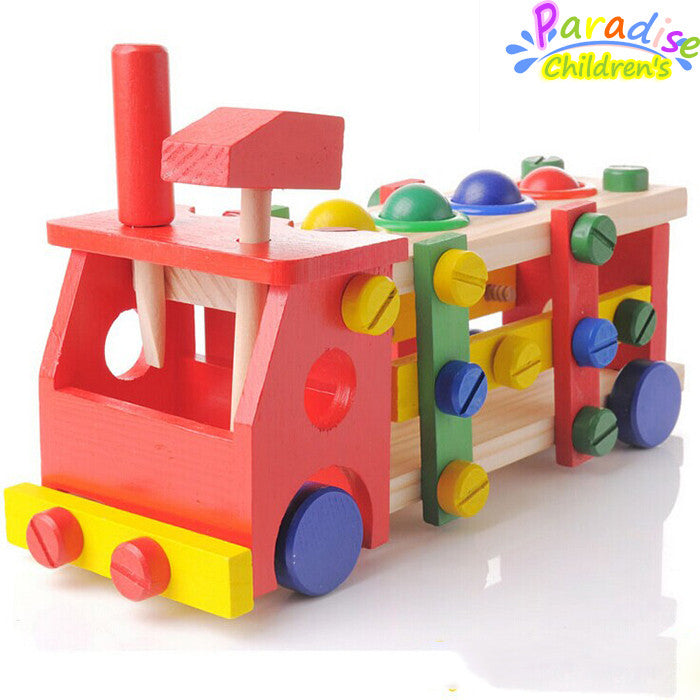 1Set Removable screws car wooden toys nut combination play education toy montessori toys child creativity developing toy