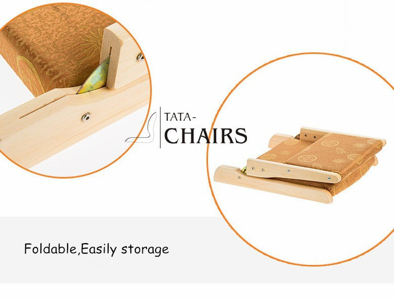 (2pcs/lot)  Living Room Furniture Designer Chair Natural Finish Floor Foldable Legs Japanese Tatami Zaisu Legless Kotatsu Chair
