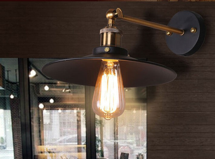 American style bedside antique wall lamp single-head living room lights vintage fashion bar lamps
