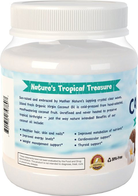 Island Fresh Superior Organic Virgin Coconut Oil - Help support a healthy metabolism