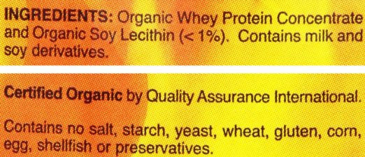 Now Foods Organic Whey Protein, Natural Unflavored - Free of rbgh and antibiotics