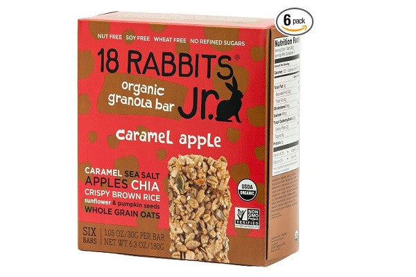 18 Rabbits Jr. Organic Gluten Free Granola Bar, Caramel Apple, 6.3 ounce (Pack of 6) - SustainTheFuture.us - The Natural and Organic Way of Life