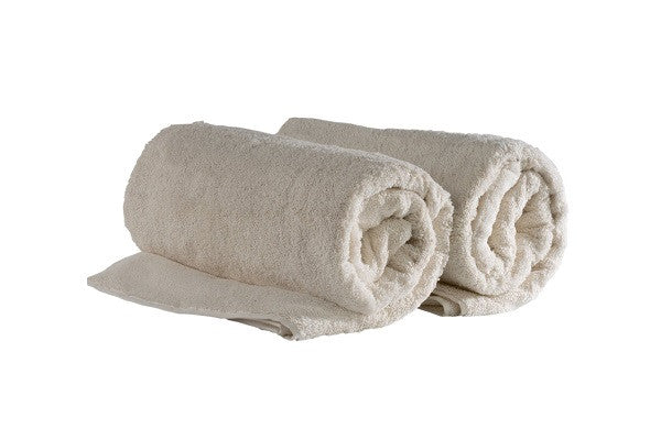"SET OF 2, 40""X 60"", ORGANIC OVERSIZED TURKISH BATH TOWEL - (NATURAL (NO-DYE)"