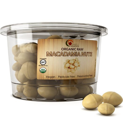 Usda Organic Macadamia Nuts - 100% Natural Raw Whole Nuts - USA Made