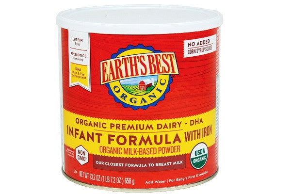 Earth's Best Organic, Infant Formula with Iron, 23.2 Ounce - No artificial flavors, colors - SustainTheFuture.us - The Natural and Organic Way of Life