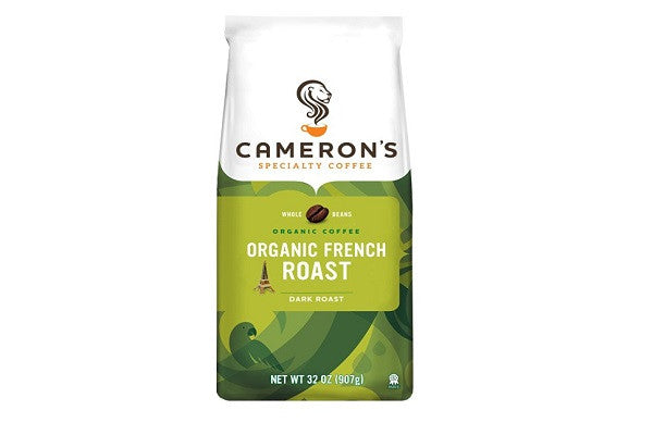 Cameron's Organic Whole Bean Coffee, French Roast, 32 Ounce -  Organic, natural - SustainTheFuture.us - The Natural and Organic Way of Life