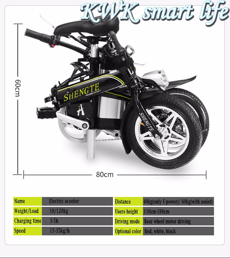2016 Foldable Electric bicycle Mini Cool Cycling 15.6A E-Bike