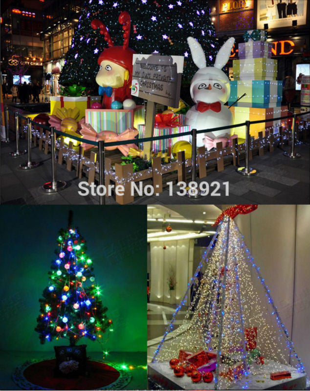 4M 40 LED Battery Operated LED String Lights for Xmas Garland Party Wedding Decoration Christmas Flasher Fairy Lights On Sale