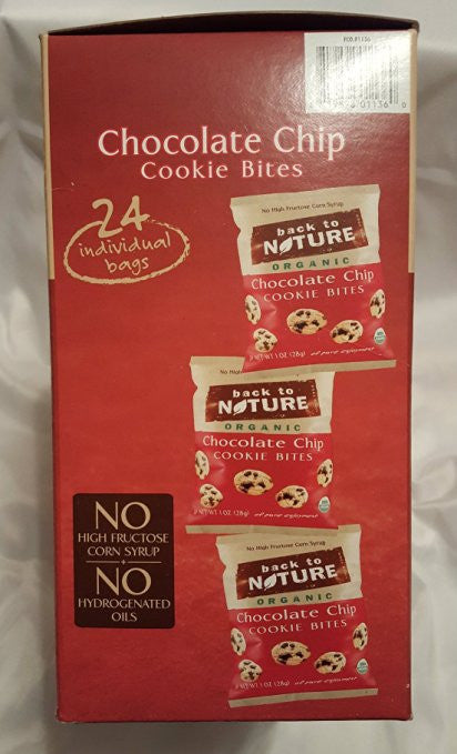 Back to Nature Organic Chocolate Chip Cookie Bites - No Hydrogentated Oils - SustainTheFuture.us - The Natural and Organic Way of Life