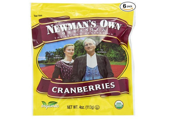 Newman's Own Organics Cranberries - High in Antioxidants, Cholesterol - SustainTheFuture.us - The Natural and Organic Way of Life