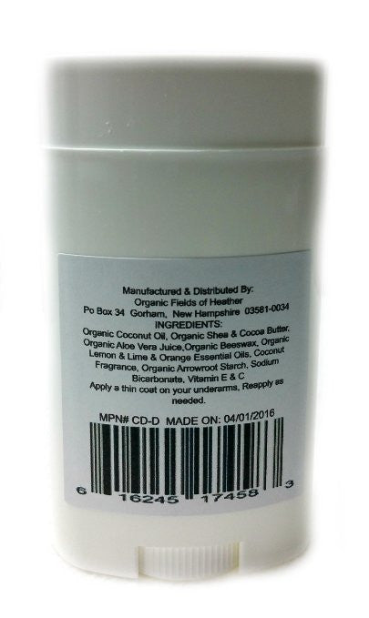 Organic & Natural Deodorant That Naturally Detoxes - Peachy Coconut Dream Scent - W/Organic Non-GMO Ingredients - For Women - Men - Kids - NO: Sulfates, Pthalates, Parabens, Aluminum or Dyes