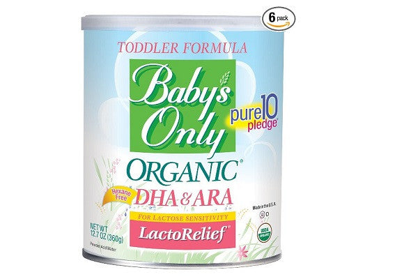 Baby's Only Toddler Formula, Organic LactoRelief with DHA&ARA, 6 Pack - SustainTheFuture.us - The Natural and Organic Way of Life