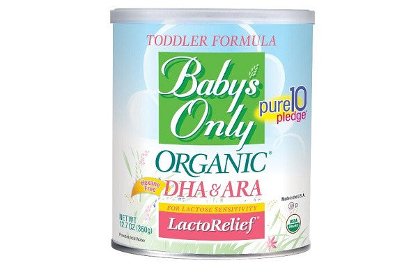 Baby's Only Organic LactoRelief with DHA & ARA Toddler Formula - Gluten - SustainTheFuture.us - The Natural and Organic Way of Life