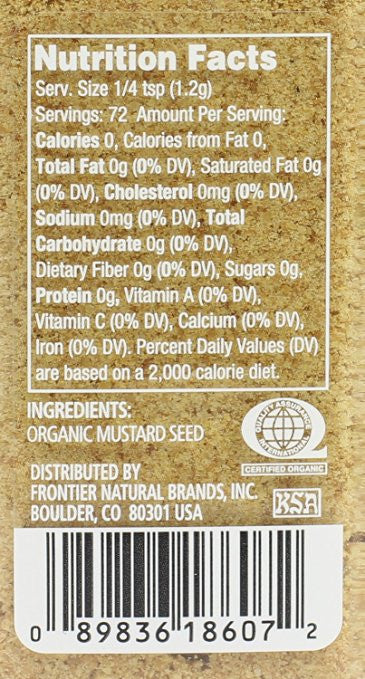 Simply Organic Mustard Seed Ground Certified Organic - Full-flavored