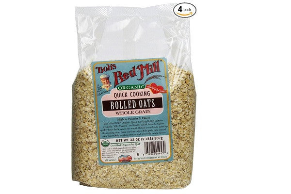Bob's Red Mill Organic Oats Rolled Quick, 32-Ounce (Pack of 4) - Cholesterol free - SustainTheFuture.us - The Natural and Organic Way of Life