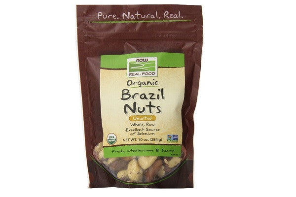 Now Foods Organic Brazil Nuts, 10 Ounce - Excellent source of Magnesium, Uniquely