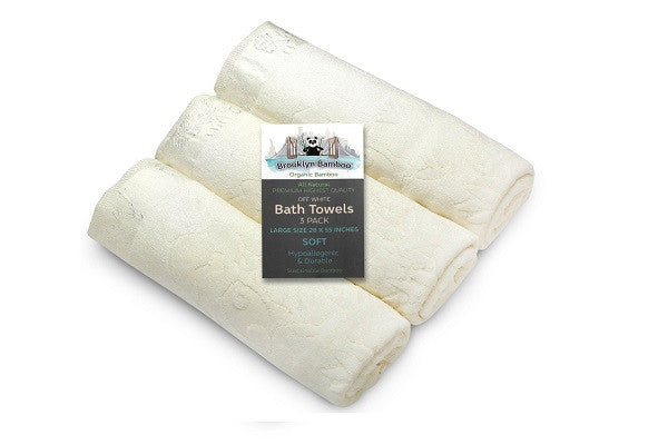 Brooklyn Bamboo Bath Towels SOFT, Absorbent More Durable Than Cotton Beautiful 3Pc Set - SustainTheFuture.us - The Natural and Organic Way of Life