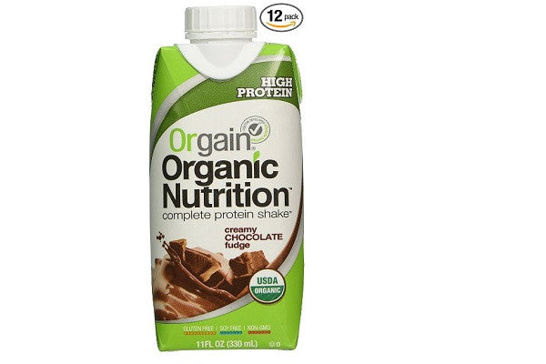 Orgain Organic Nutrition Shake, Creamy Chocolate Fudge - Ideal for healthy