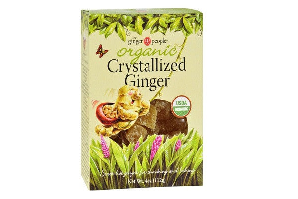 Ginger People Organic Crystallized Ginger Box - Can also be used for baking - SustainTheFuture.us - The Natural and Organic Way of Life