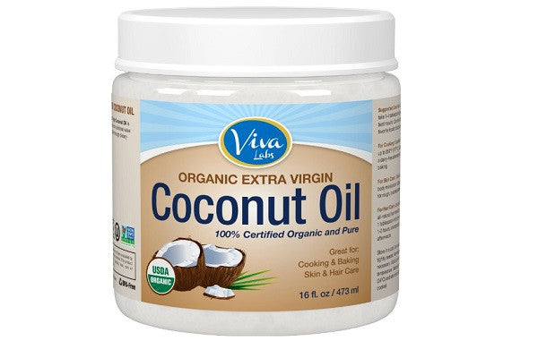 Viva Labs The Finest Organic Extra Virgin Coconut Oil, 16 Ounce - kosher and gluten free