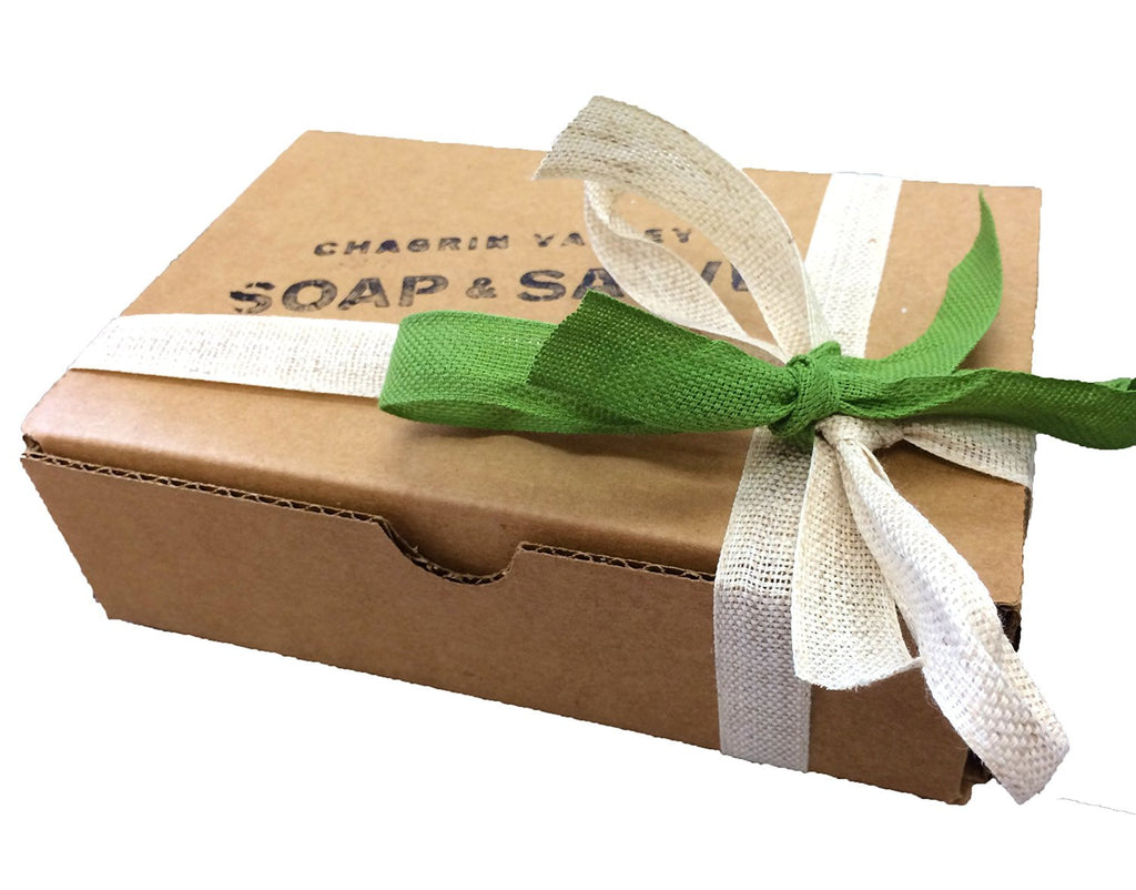 Chagrin Valley Soap & Salve - Organic Soap Sampler Gift Set - 8 USDA Organic Certified Soap