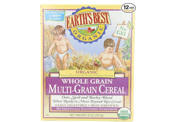 Earth's Best Organic, Whole Grain Multi-Grain Cereal (Pack of 12) - No artificial colors - SustainTheFuture.us - The Natural and Organic Way of Life