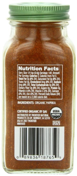Simply Organic Paprika Ground Certified Organic -  spicy flavor and color in soups